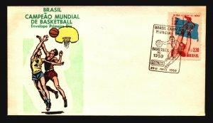 Brazil 1959 Basketball FDC / Painted Cachet / UA - L3615