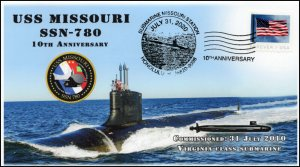 20-157, 2020, USS Missouri, Pictorial Postmark, Event Cover, SSN-780, Submarine,