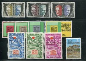 Unesco  lot   Mint VF NH    -    Lakeshore Philatelics