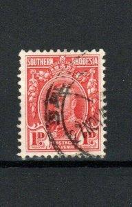 Southern Rhodesia 1929 1d perf 12 1/2 FU CDS
