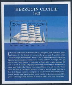 [81303] Djibouti 2000 Ships Sail boats Herzogin Cecilie MNH
