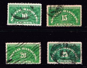 US STAMP BOB #QE1-4 10-25c Special Handling 1955 USED STAMPS SET