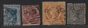 $New So. Wales Sc#O13, O15, O18-O19 used, fine, part set, Cv. $59.50