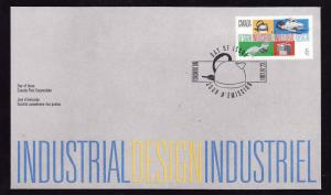 Canada-Sc#1654-stamp on FDC-Industrial Design-1997-