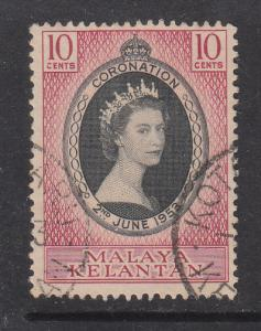Malaya Kelantan 1953 Sc 71 Coronation Used