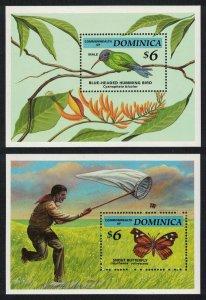 Dominica Hummingbird Birds Butterfly 2 MSs SG#MS1807 MI#Block 256-257
