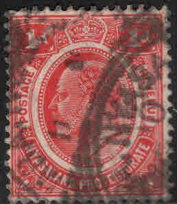 Nyasaland Protectorate Scott 3 Used Wmk 3 KEVII 1908