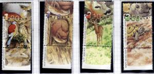 ISRAEL Scott 1435-1438  MNH**  stamp  set with tabs