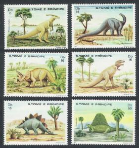 Sao Tome Dinosaurs and Prehistoric Animals 6v SC#664-669