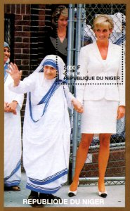 Niger 1997 Princess Diana & Mother Teresa 1v Mint Souvenir Sheet S/S. (#8)