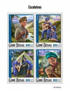 GUINEA BISSAU - 2019 - Scouts - Perf 4v Sheet - M N H
