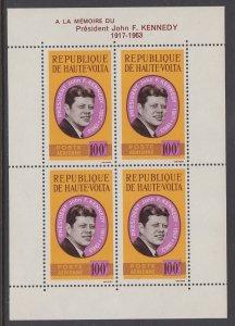 Burkina Faso C19a John F Kennedy Souvenir Sheet MNH VF