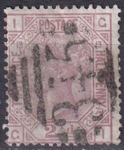 Great Britain #67 Plate 13 F-VF Used  CV $60.00 Z24