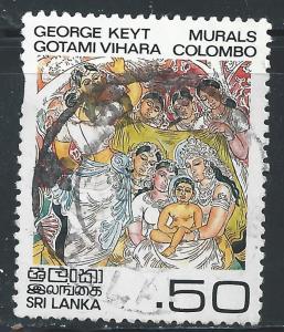 Sri Lanka #679 50c Vesak Festival, 1983 Colombo Mural