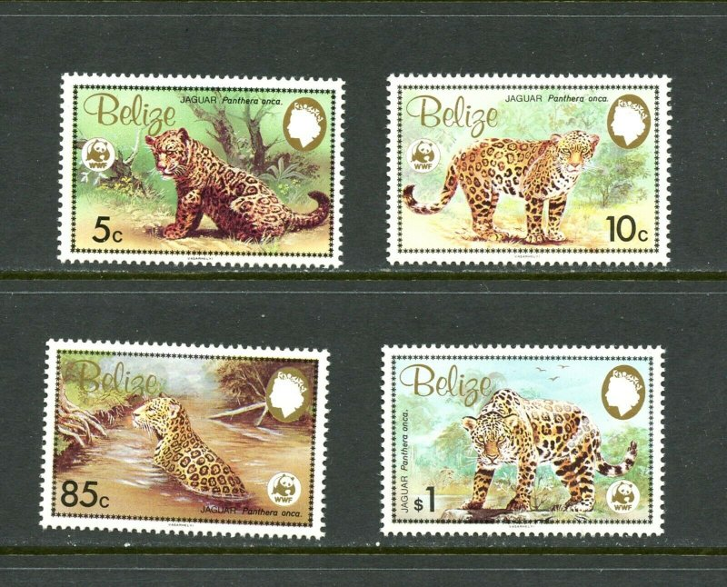 Belize MNH 489-92 Jaguars Wild Cats WWF 1983
