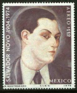 MEXICO C462, In Memoriam Salvador Novo, writer. MINT, NH. F-VF.