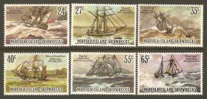 Norfolk Island #293-8 NH Shipwrecks