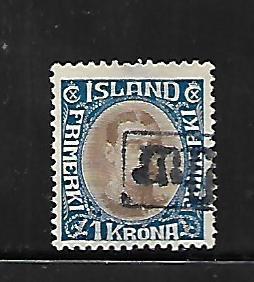 ICELAND, 126, USED, CHRISTIAN X