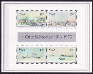 SWA Painter Otto Schroeder MS SG#MS281 SC#383a
