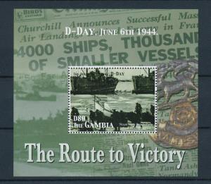 [81113] Gambia 2005 Second World war D-day Royal navy from sheet MNH