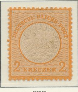 Germany Stamp Scott #22, Mint, Good Centering, No Gum - Free U.S. Shipping, F...