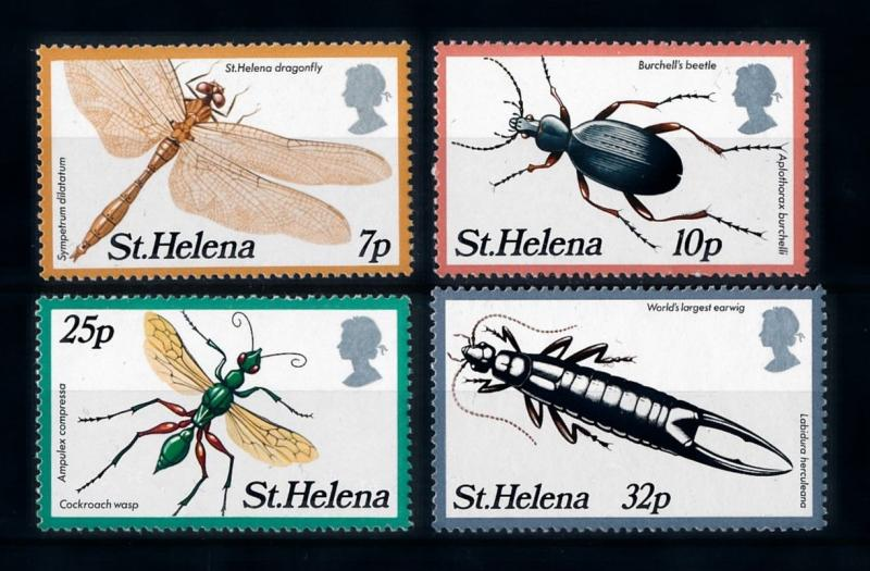 [70691] St. Helena 1982 Insects Dragonfly Beetle Earwurm  MNH