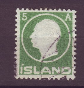 J25455 JLstamps 1912 iceland used #92 king