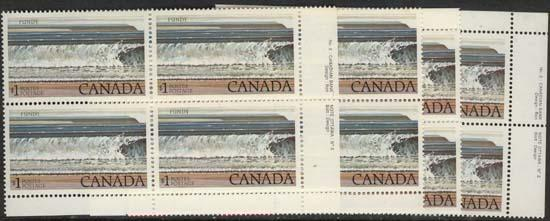 Canada - 1981 $1 Fundy Plate 2 Blocks mint #726a