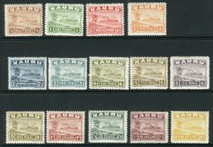 NAURU-1937-48  A mounted mint set to 10/- (shiny surfaced paper) Sg 26-39b