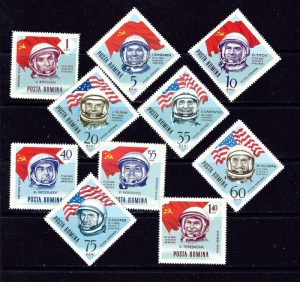 Romania C151-60 MNH 1964 Astronauts and Flags