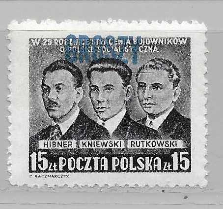 Poland 485 Revolutionists Groszch Surcharge  MNH