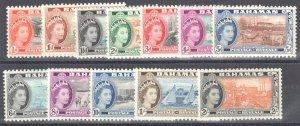 Bahamas SC #158-169 Mint H (12 stamps)