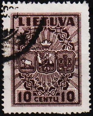 Lithuania.1934 10c S.G.400 Fine Used