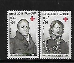 FRANCE, B385-B386, MNH, RED CROSS SURTAX