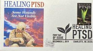 AFDCS B7 Healing PTSD Slogan Cancel 7th Semipostal Stamp Charlotte, NC