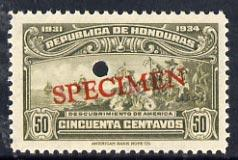 Honduras 1931 Discovery of America 50c unmounted mint opt...