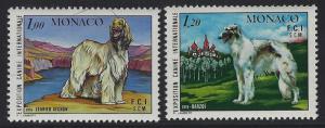 Monaco 1978 Monte Carlo Dog Show set Sc# 1126-27 NH