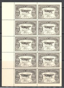 Canada #CL48 MINT NH - RARE Sheet of 10 - Private Airways