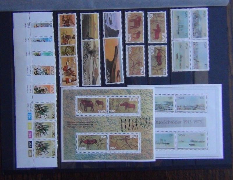 South West Africa 1978 Suffrage 1976 Rock Paintings set Miniature Sheet etc  MNH