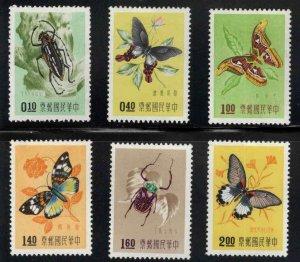 CHINA, PRC Scott 1183-1188 Butterfly set MNH**