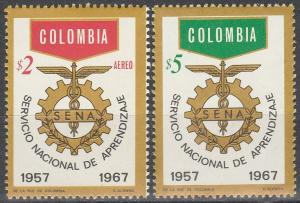 Colombia #771, C494   MNH  (K21)