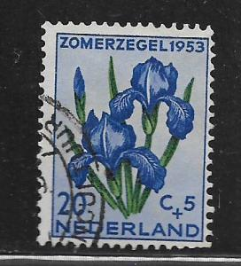 NETHERLANDS, B253, USED, ORCHID