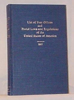 Book - US List of POs and PL&R 1857, Wierenga reprint, 263pp