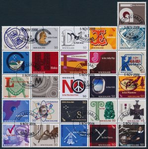 New Zealand 2008 The A to Z of New Zealand Block of 26 SG3060-3085 CTO Full Gum