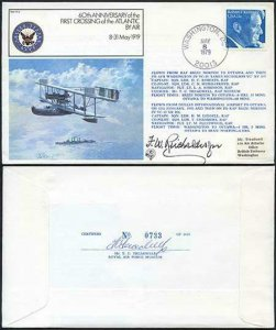 FF2c 60th Ann of the 1st Crossing of the Atlantic by air Signed by F.W Reichelde