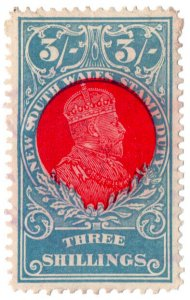 (I.B) Australia - NSW Revenue : Stamp Duty 3/-