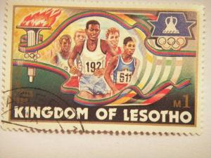 LESOTHO, 1984 1m CTO, Olympic Games, Los Angeles SG 594  Value £ 0.30