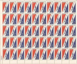US Stamp - 1959 Pan-American Games - 50 Stamp Sheet  - Scott #C56