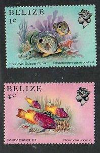 Belize; Scott 699, 702; 1984; Unused; NH
