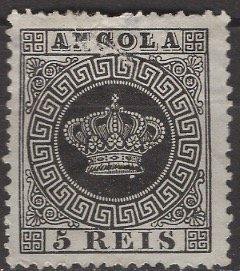 Angola; 1870: Sc. # 1: O/Used Single Stamp (Reprint)